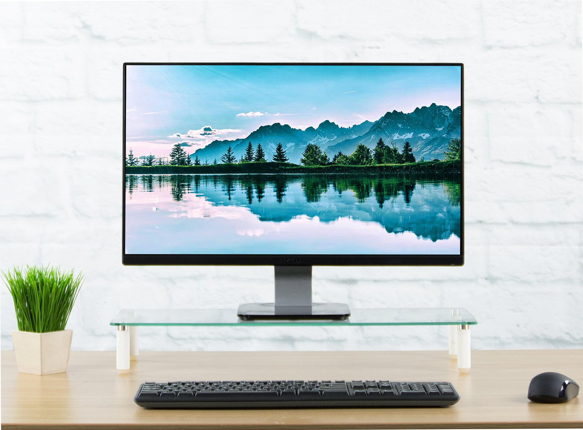 VIVO Glass Ergonomic Tabletop Riser/Desktop Stand for Computer Monitor, LCD LED TV, Monitor, Laptop/Notebook, and more (STAND-V000R) by VIVO (Image #4)