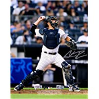 """$52 » Austin Romine New York Yankees Autographed 8"""" x 10"""" Throwing Photograph - Fanatics Authentic Certified"""