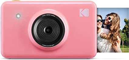 Kodak Mini Shot Wireless Sofortbild Digitalkamera Rosa 2x3 Zoll Druck Mit Patentierter 4 Pass Drucktechnologie