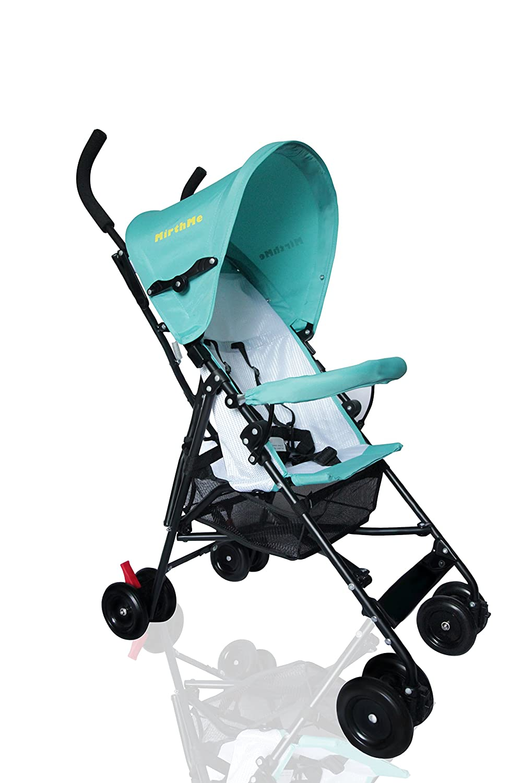 MirthMe Light Weight Baby Buggy/Stroller (Warm Red) Ltd WA40 Plus