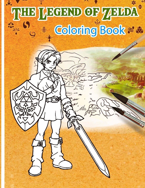 Amazon.com: Legend of Zelda Coloring Book: Super Coloring Book with ...