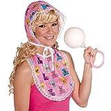 Forum Novelties Women's Big Baby Oversized Costume Bib and Bonnet Set