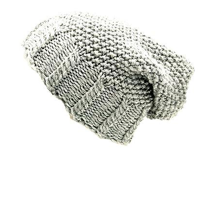 5d3d41f2f08 Magic Needles Winter Woolen Slouch Cap (Handmade Mens Slouch Beanie) (Light  Grey)