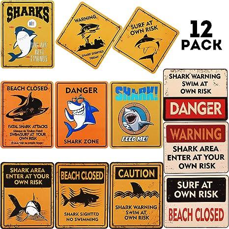 Amazon.com: Shark Zone - Cartel decorativo para fiestas ...