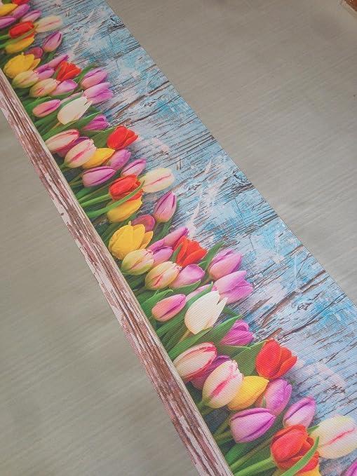 Alfombra de cocina con tulipanes Shabby chic, de estilo vintage ...