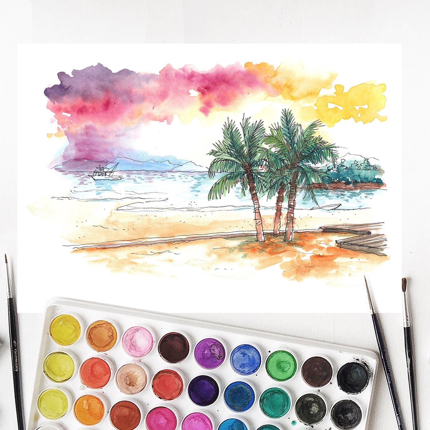 U.S. Art Supply 36 Watercolor Paint Set ONLY $6.96 (Reg. $19)