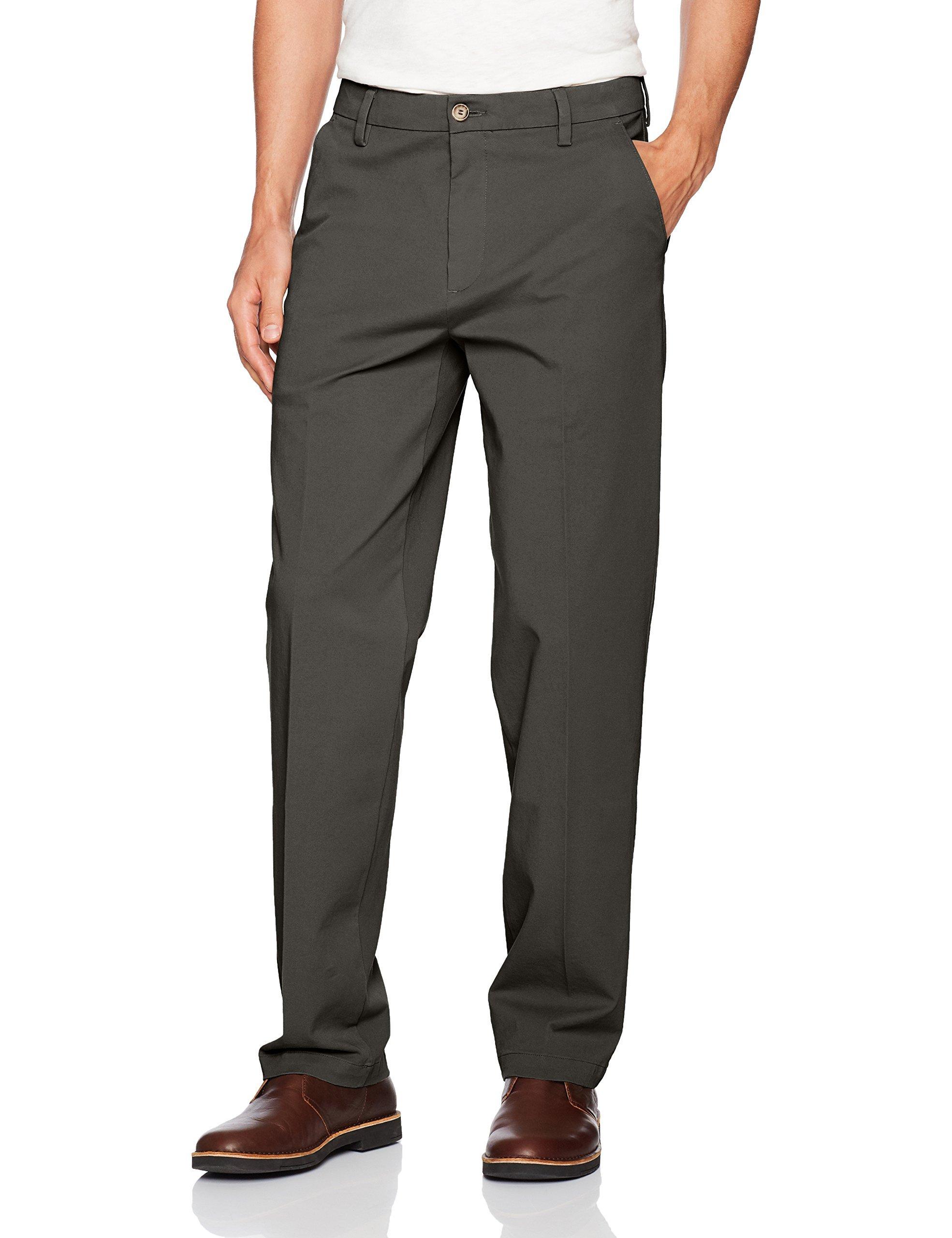 Dockers Men's Big and Tall Big & Tall Classic Fit Workday Khaki Smart 360 Flex Pants D3, Storm (Stretch) -Grey, 36W x 38L