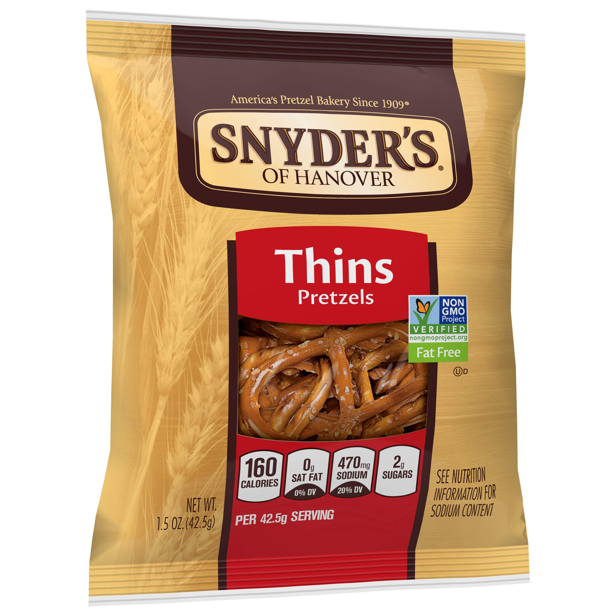 Snyder's of Hanover Pretzels, Thins, Single-Serve 1.5 Ounce (Pack of 60) by Snyder's of Hanover (Image #5)