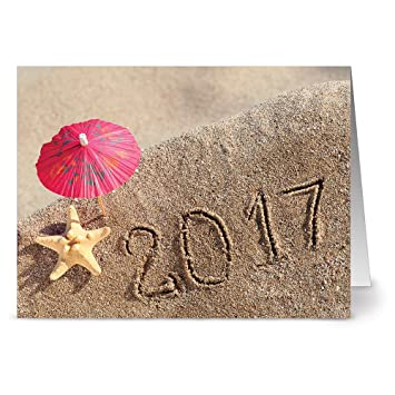 24 new years note cards tropical new year blank cards off white ivory