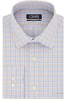 CHAPS Mens Dress Shirt Regular Fit Stretch Solid Dress Shirt