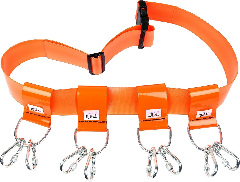 Orange 1 Pack 26 To 48 Stanley Proto Proto T-BLTEZCBROR Ty-Flot Regular Tool Belt with 4 Adaptors-EZ Clean