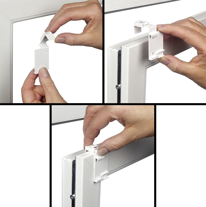 Protection Contre Les UV occultants Estink Store Enrouleur occultant Thermique sans per/çage Tous Les /él/éments de Montage Inclus 60 x 160 cm Blanc.