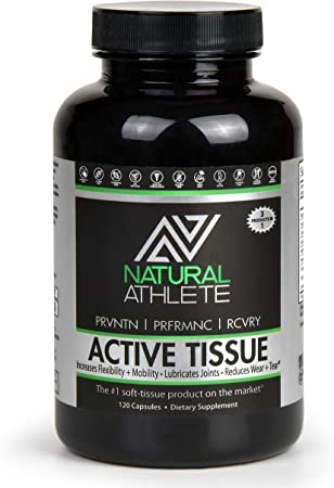 Active Tissue | Natural Extra Strength 4-in-1 Joint Support Capsules| Glucosamine, MSM, Chondroitin, Hyaluronic Acid & Collagen | Relief from Pain, Aches, Soreness (120 Tablets)