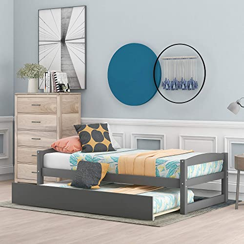 FLIEKS Wooden Daybed Frame Twin Daybed