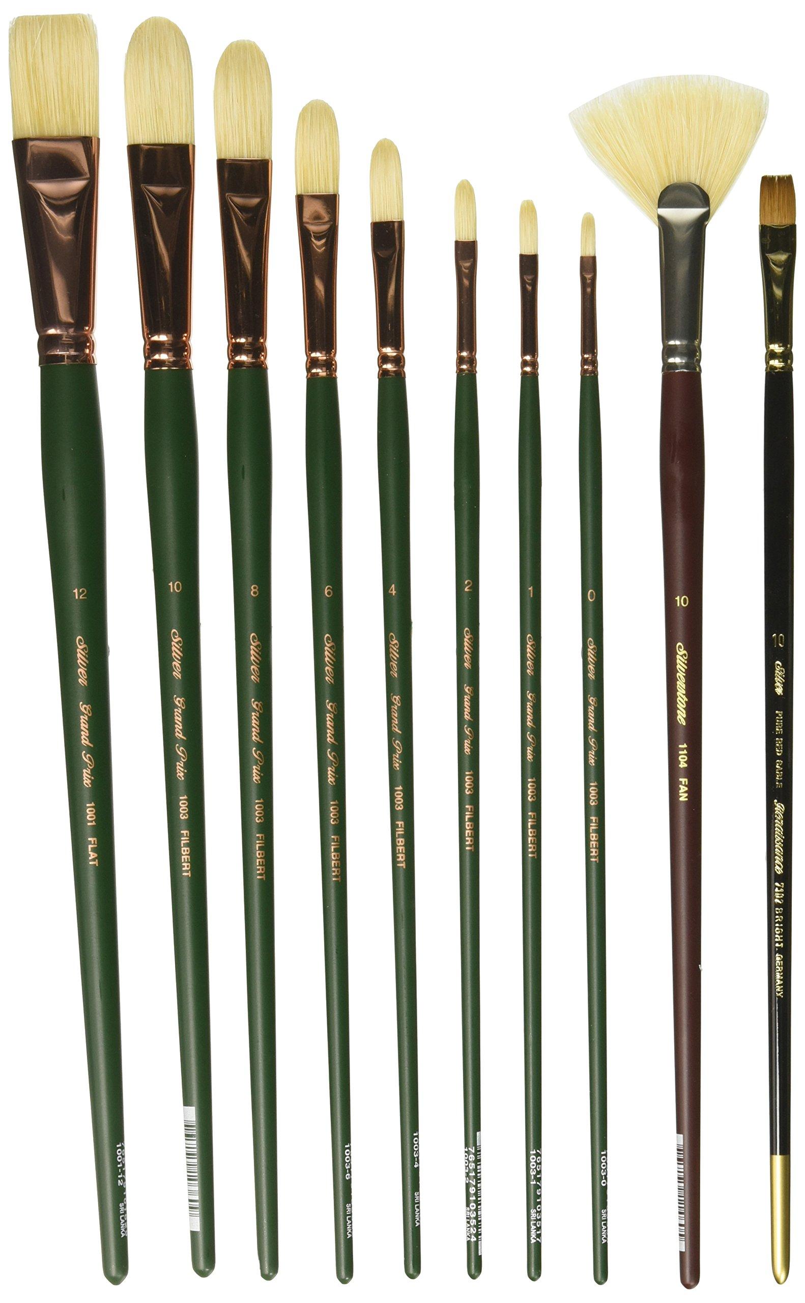 Silver Brush MSN-010 Michael Shane Neal Bravura Basic Brush Set, 10 Per Pack