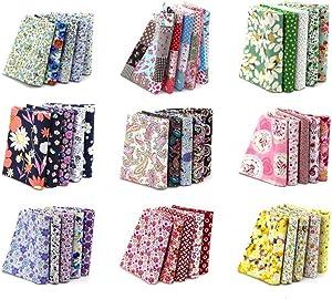 "100PCS BcPowr 4"" x 4"" (10cmx10cm) Craft Fabric, Craft Patchwork Bundle Top Cotton Fabric Squares Lint DIY Sewing Scrapbooking Quilting Dot Pattern Artcraft"