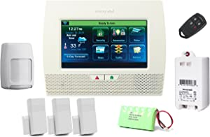 Honeywell Lynx Touch L7000 Starter Kit - LYNX Touch Wireless Security Alarm with (3) 5816WMWH Door/Window Transmitters.