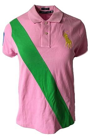 b995c60b POLO RALPH LAUREN Womens Banner Top T-Shirt Big Pony Pink FT78 (Large):  Amazon.co.uk: Clothing