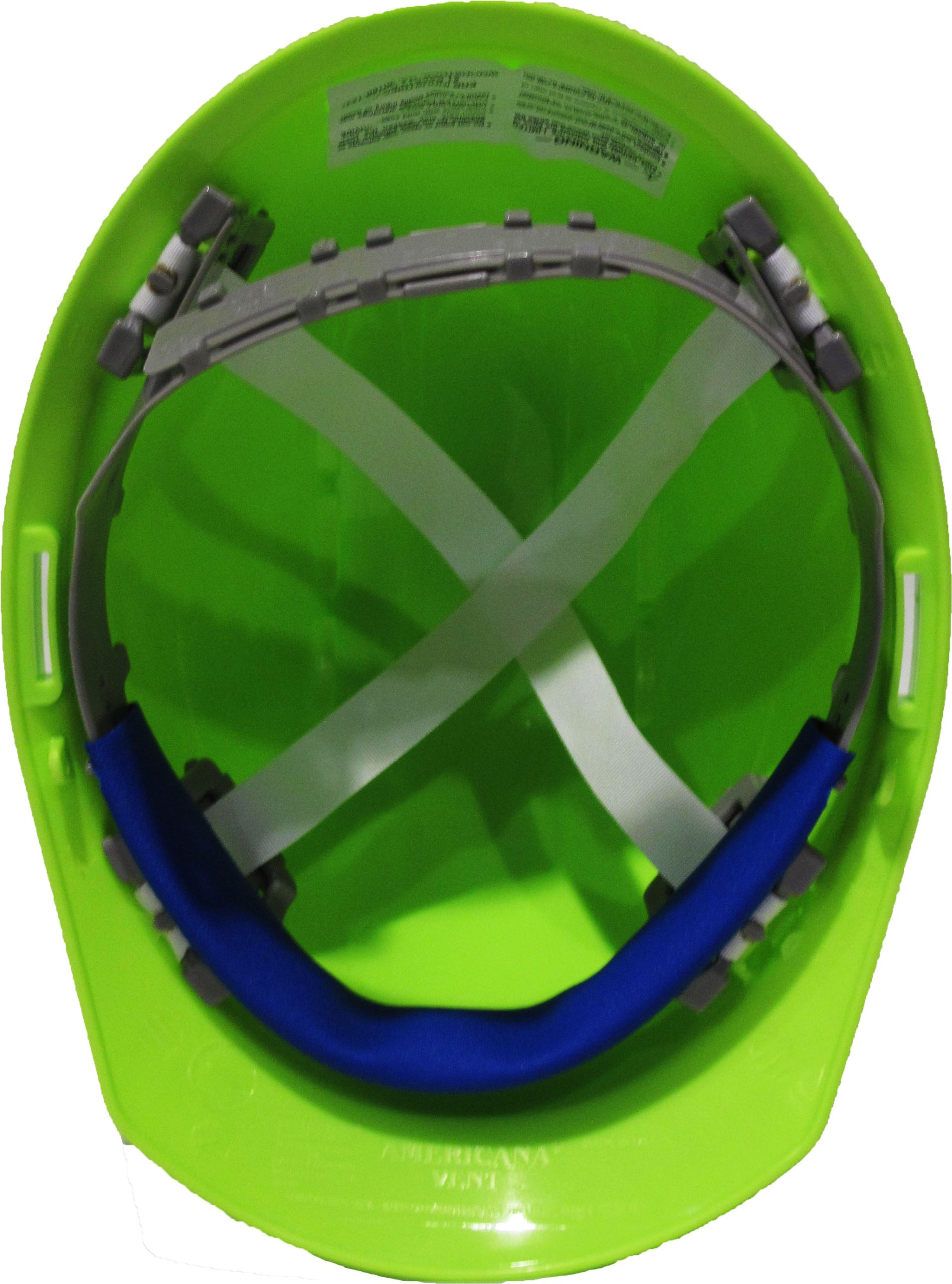 ERB 19250 Americana Vent Cap Style Hard Hat with Slide Lock, Flourescent Lime