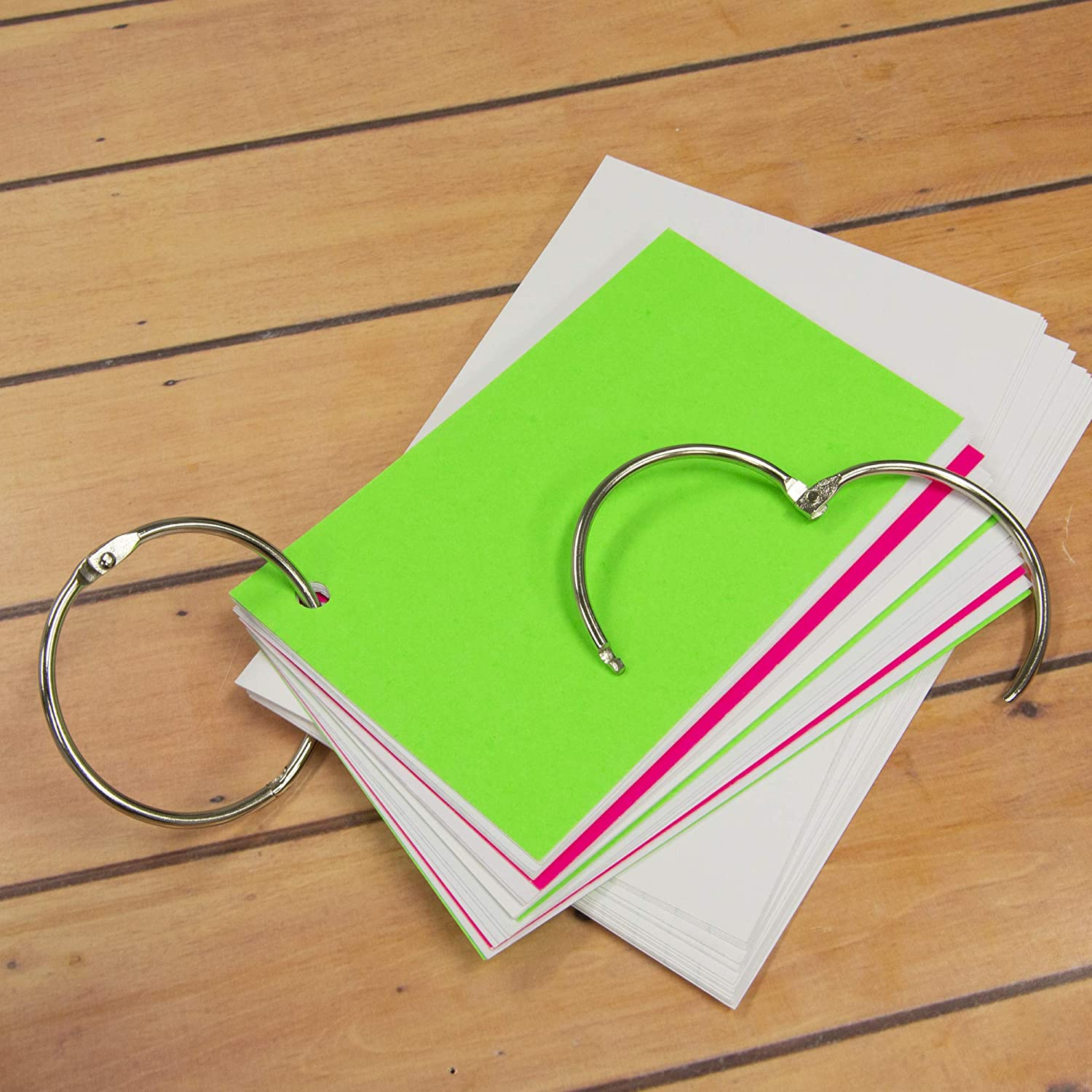 10//Pack BAZIC Assorted Size Metal Book Rings
