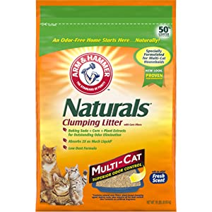 ARM & HAMMER Naturals Cat Litter, Multi Cat, 18lb