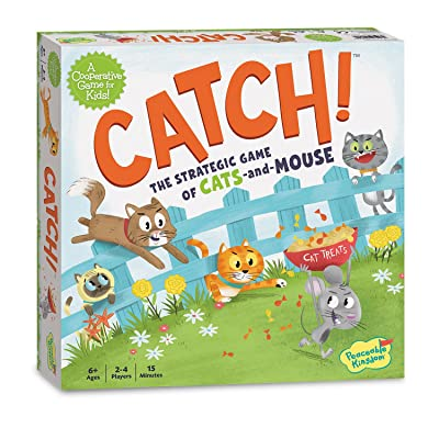 Peaceable Kingdom Catch! The Strategic Game of Cats and Mouse: Toys & Games