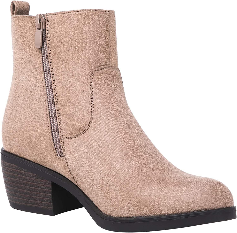 GLOBALWIN Womens Stud Fashion Boots