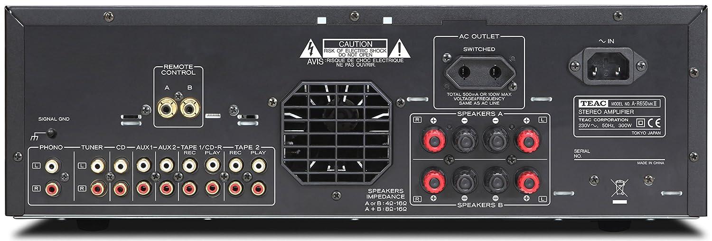 Amplificatore TEAC AR650 pannello posteriore