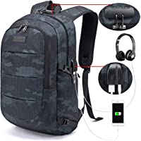Tzowla Business Laptop Backpack Water Resistant Anti-Theft College Backpack with USB Charging Port and Lock 15.6 Inch Computer Backpacks for Women Girls, Casual Hiking Travel Daypack (NavyBlue)