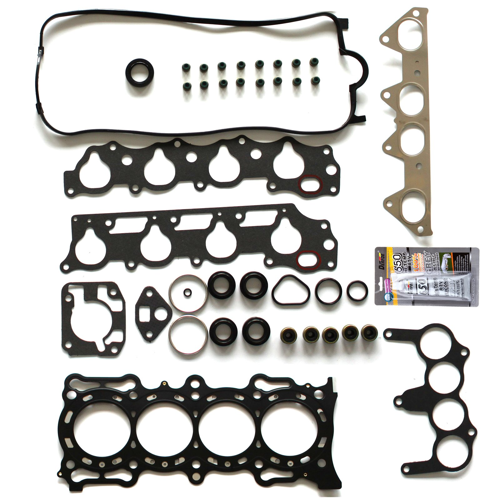 SCITOO Replacement for Head Gasket Kit Fits Honda Accord 2.3L SOHC F23A1 F23A4 F23A5 VTEC1998-2002 Engine Valve Cover Gaskets Kit Set