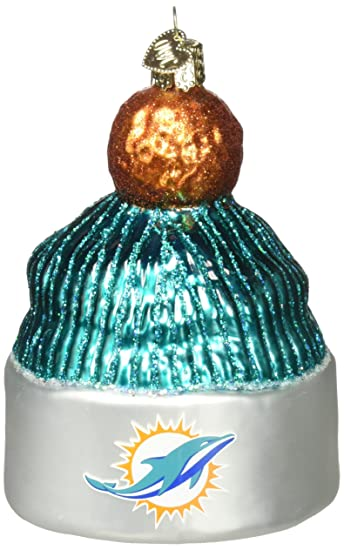 Old World Christmas Glass Blown Ornament Miami Dolphins Beanie - Amazon.com: Old World Christmas Glass Blown Ornament Miami Dolphins