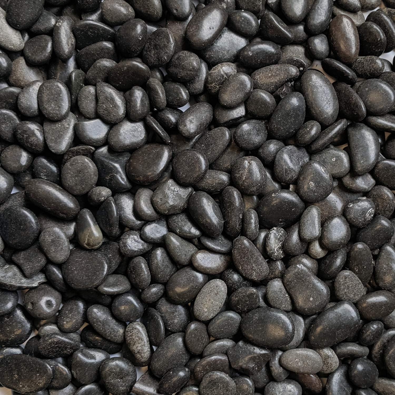 "Midwest Hearth Natural Decorative Polished Black Pebbles 3/8"" Gravel Size (5-lb Bag)"
