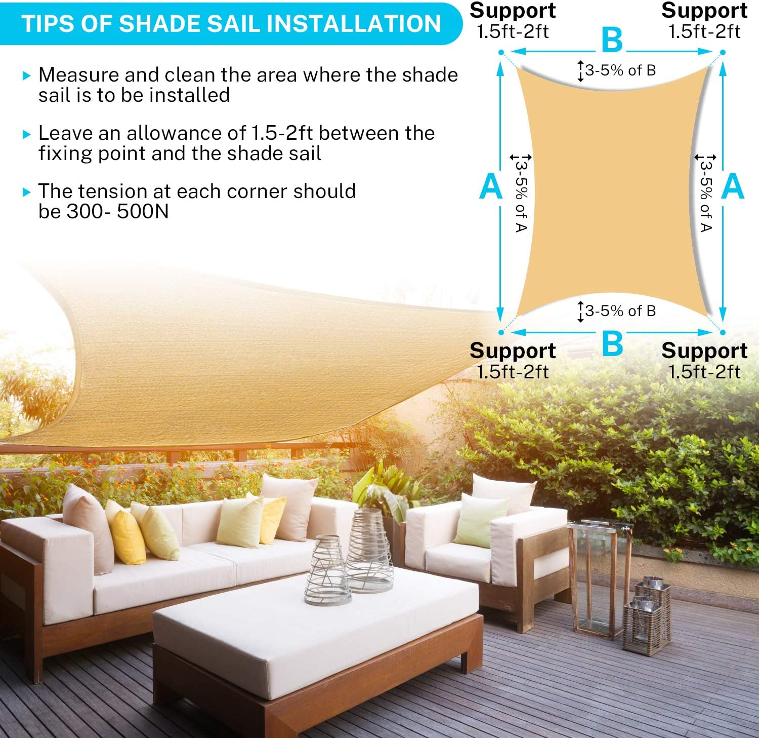 Rectangle Sun Sail Shade