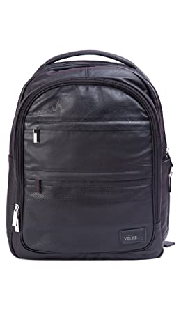 Velez Genuine Leather Backpack for Men Bolso en Cuero de Hombre Black