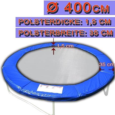 Cama elástica con un diámetro de 396 - 400 cm cubierta de 35 cm de ...