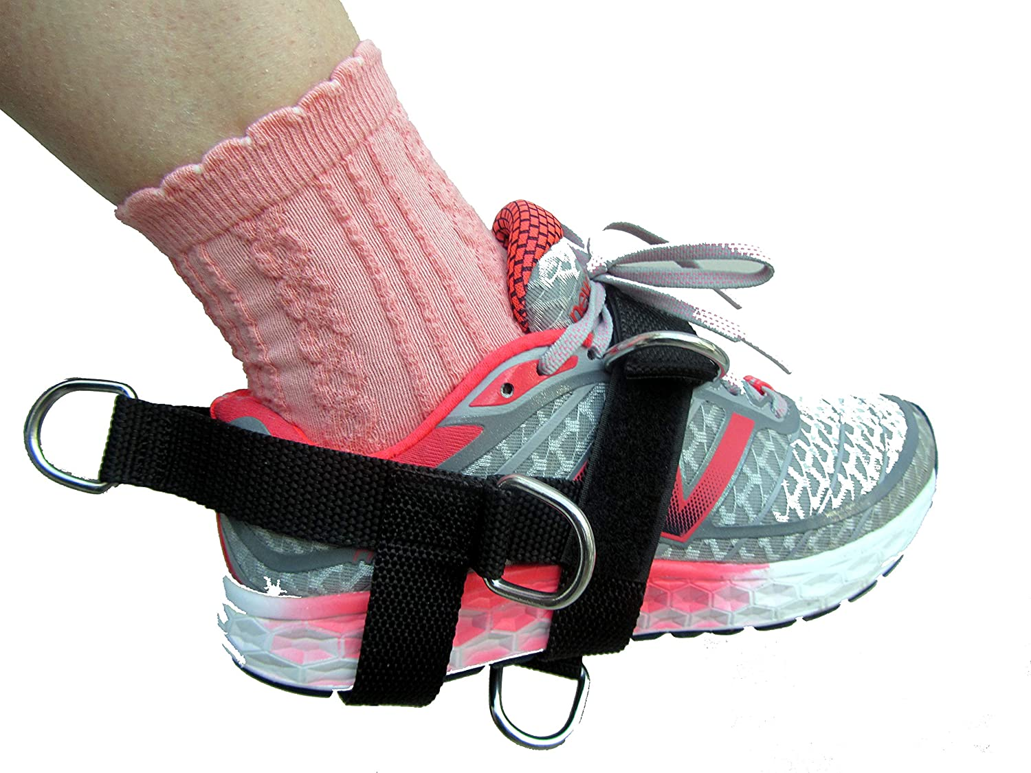 Sold Single LEG//FOOT//ANKLE Training//Fitness Strap Pilates NEW SHIHAN Power-Sports 5-D Ankle//Foot Strap 5 -Ring 5 Position Cable Gym Machine Attachment For Men//Women Yoga Ideal for Donkey Kickbacks