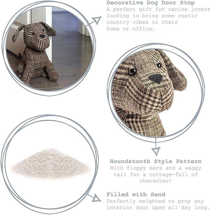 Nicola Spring Milo The Dog Door Stop In Fabric Home Kitchen