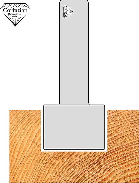 /Ø 18mm f/ür Holz und Kunststoff HW Corintian Nutfr/äser Hohlkehlfr/äser HM Nutenfr/äser aus Hartmetall und Grundschneidend 6 mm Schaft