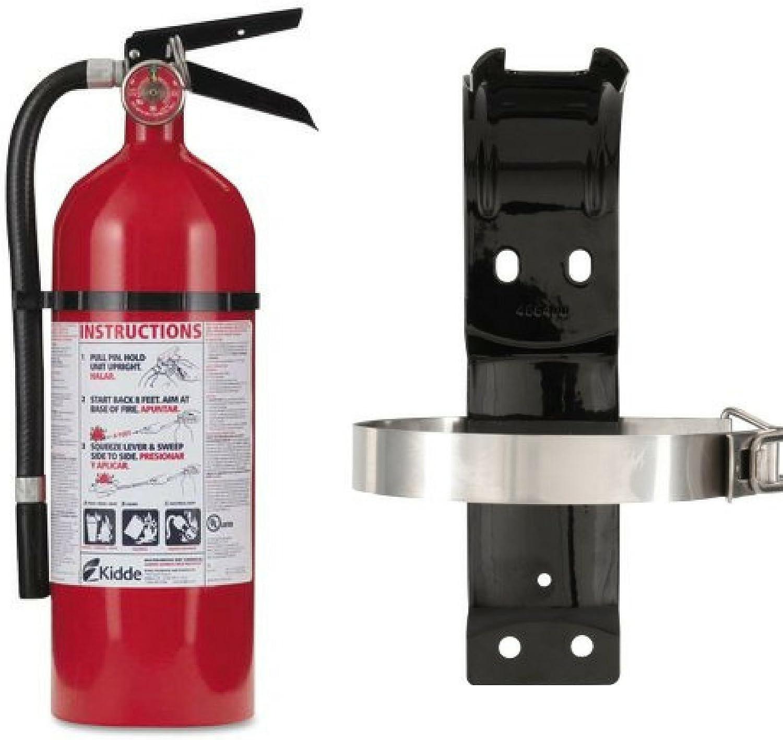 Kidde 21005779 Pro 210 Fire Extinguisher 160CI 4 lbs ABC Bundle Set 1 Pack /& Bracket Box