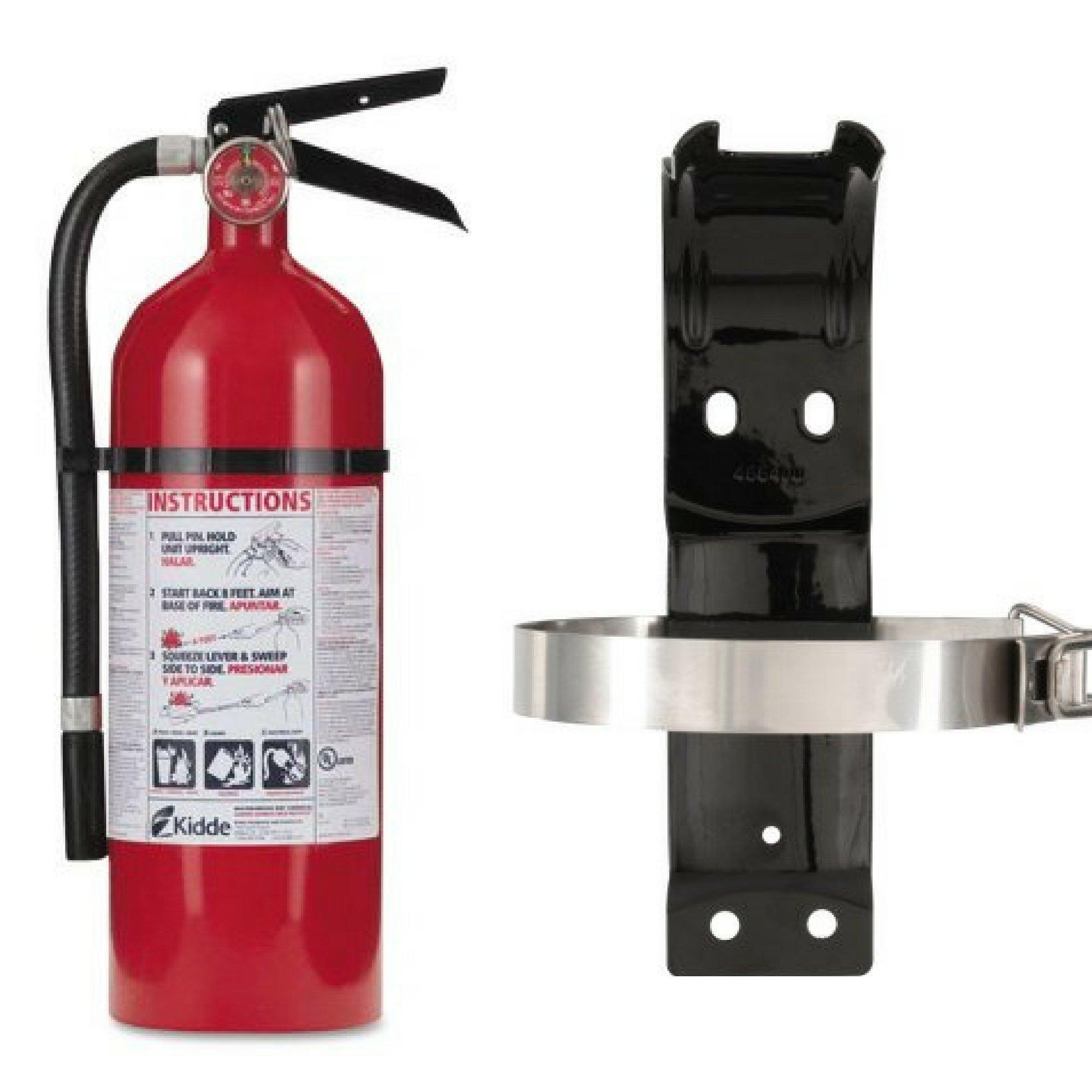 Kidde 21005779 Pro 210 Fire Extinguisher, ABC, 160CI, 4 lbs, 1 Pack & Bracket Box - Bundle Set