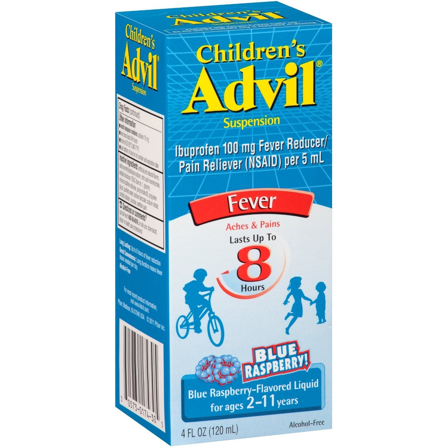 Advil Children's Pain Releiver, Blue Raspberry, 3 Count by Advil