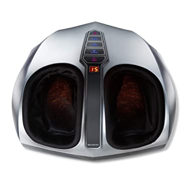Belmint Shiatsu Foot Massager with Heat - Air Compression Deep Kneading Foot Massage Machine to Improve Blood Circulation   Electric Massager to Relieve Pain from Plantar Fasciitis