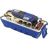 LUX-TOOLS MBS-160 Modellbau- & Gravierset mit Multifunktionswerkzeug & 188-teiligem Zubehör-Set | 230V 160W Multitool mit Präzisionsgriff, Spindelarretierung & Digital-Anzeige der Drehzahl