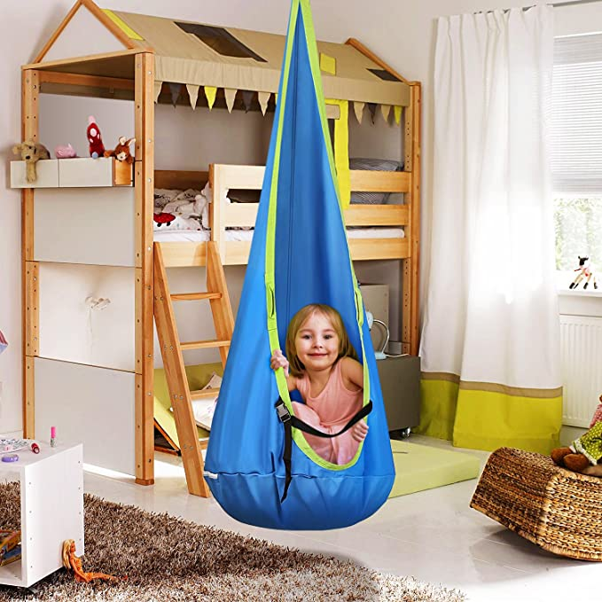 Hot Amazon Intey Kids Hanging Chair Child Pod Swing