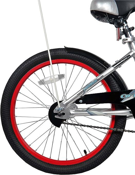 Silver WeeRide/ Uomo /Parte Posteriore Bicicletta a rimorchio Bici