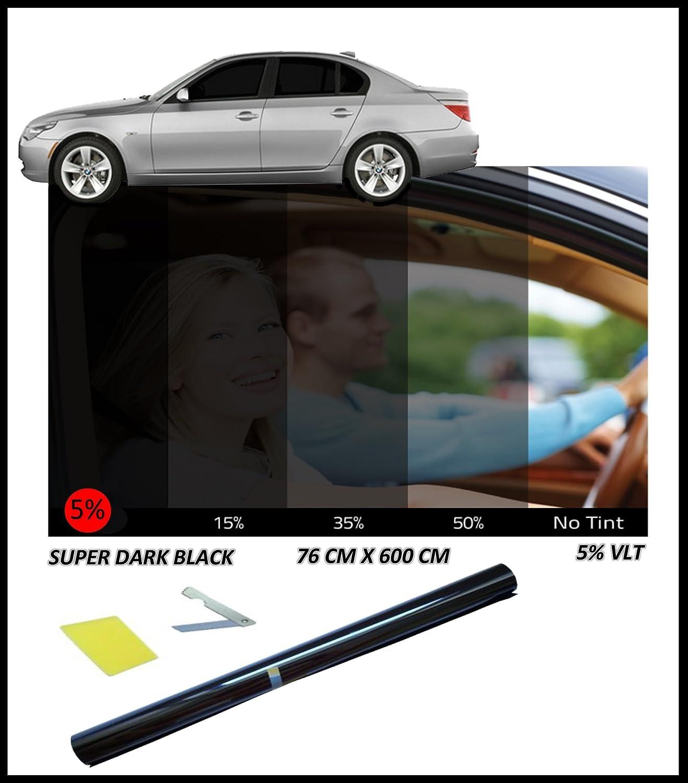 Flexzon Car Window Tint Film Tinting Super Dark Black