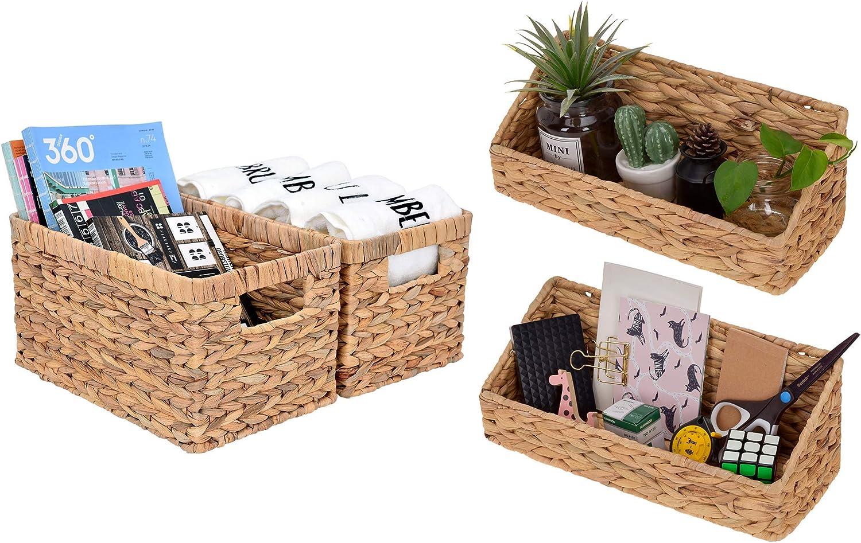 StorageWorks Water Hyacinth Storage Bins Set
