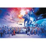 """The Star Wars Galaxy - Episode I-VI - Movie Poster/Print (All Characters, Spaceships & Vehicles) (Size: 36"""" x 24"""")"""