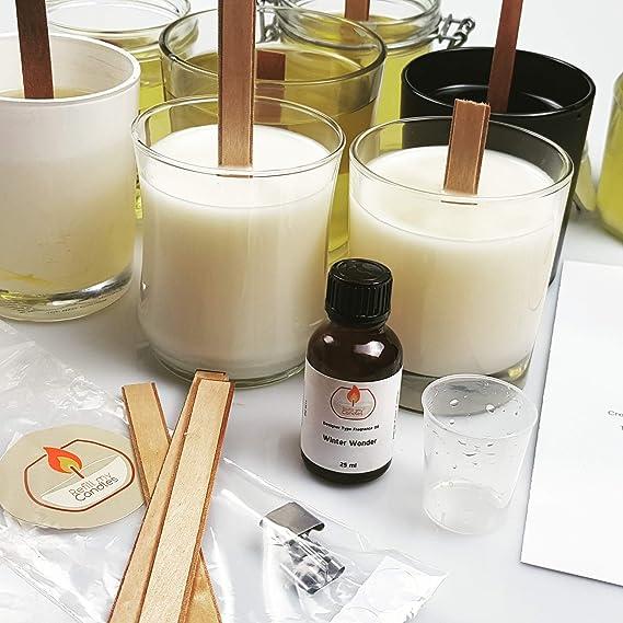 Kit de manualidades para hacer velas – todo lo que necesitas para rellenar y recrear 3 velas grandes de cera de soja natural de primera calidad en cuestión de minutos.: Amazon.es: Hogar