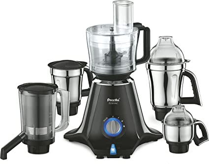 Buy Preethi Zodiac MG 218 750-Watt Mixer Grinder with 5 Jars (Black ...